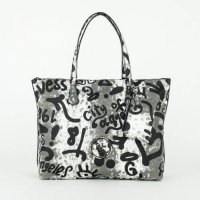 GUESS Tasche Overnight Black Multi Handtasche
