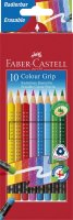Faber-Castell Buntstift Colour GRIP radierbar 10er Kartonetui