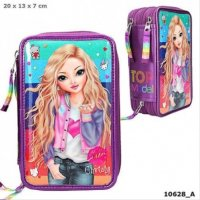 Top Model Friends Lila 3 fach Federtasche Federmäppchen Federmappe Etui 10628
