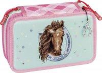 Brunnen 3-Fach Federtasche Pony Love
