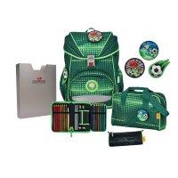DerDieDas Schulrucksack Ergoflex Soccer Green 5 tlg.
