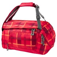 Jack Wolfskin Ramson 35 Sporttasche Indian Red Woven Check