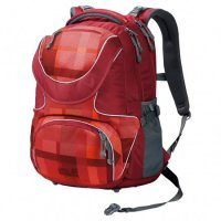 Jack Wolfskin Ramson 26 Schulrucksack Indian Red Woven Check