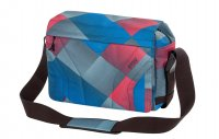 4You Umhängetasche Notebooktasche Laptoptasche Red/Blue Squared