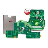 DerDieDas Schulranzen Ergolflex Superlight Green Goal 5 tlg.